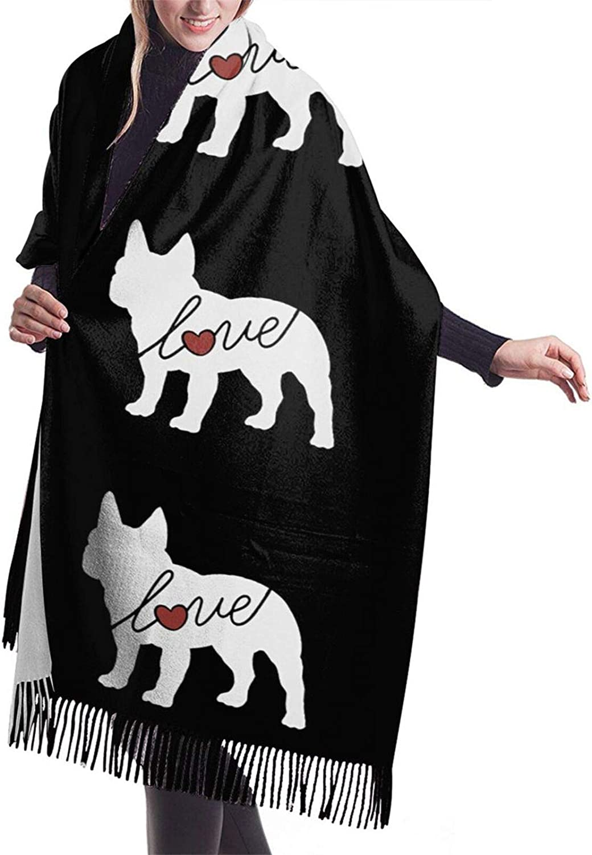 Womens Soft Cashmere Scarf,Labradoodle Clip Art Shawl Scarf,Premium Large Pashmina,Warm Wrap Cape Solid Shawl Elegant Wrap