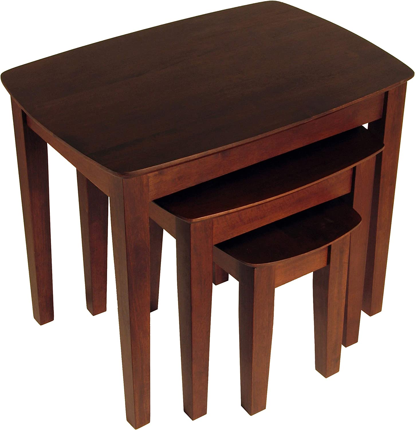 Winsome Wood Nesting Table, Antique Walnut