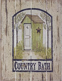 Rustic Pallet Art Barn Star Outhouse - Amish Made in The USA