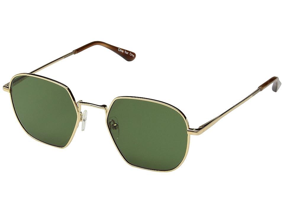 Retro Sunglasses | Vintage Glasses | New Vintage Eyeglasses TOMS Sawyer Shiny Gold Fashion Sunglasses $129.00 AT vintagedancer.com