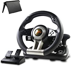Game Racing Wheel, PXN-V3II 180° Competition Racing Steering Wheel with Universal USB Port and with Pedal, Suitable for PC...