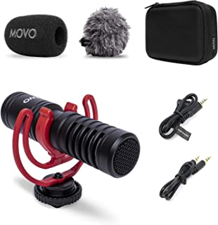 Movo VXR10-PRO External Video Microphone for Camera with Rycote Lyre Shock Mount - Compact Shotgun Mic and Accessories Com...