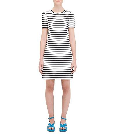 Kate Spade New York Stripe Puff Sleeve Dress (Cream) Women