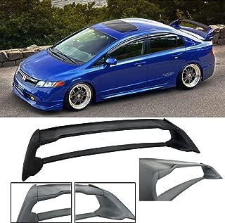 VXMOTOR for 2006-2011 Honda Civic Sedan 4 Door / 06-11 Acura CSX 4 Door Mugen RR ABS Plastic Rear Trunk Wing Spoiler FD2 FA2