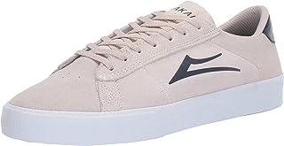 Lakai Footwear Newport White/Navy Suedesize Tennis Shoe, White/Navy Suede