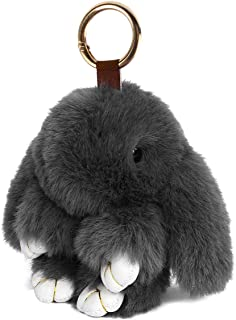 Fasterhab Faux Fur Rabbit Doll Key Chain Fluffy Car Keyring Pendant Handbag Charm Women Bag Decoration