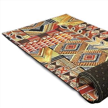Bghnifs African Textile Patchwork Print Area Rug Hallway Runner Living Room Carpet Hallway Carpet Entry Rugs Room Bedroom Rug