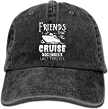 Friends That Cruise Together Last Forever Retro Washed Dyed Cotton Adjustable Plain Cap Low Profile
