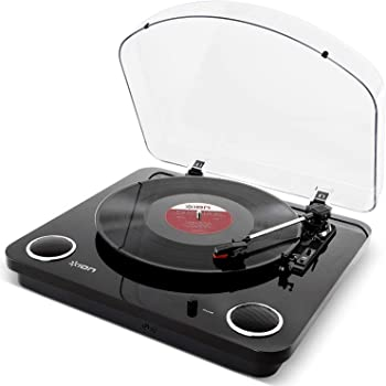 ION Audio レコードプレーヤー USB端子 スピーカー内蔵 Max LP BK ピアノブラック
