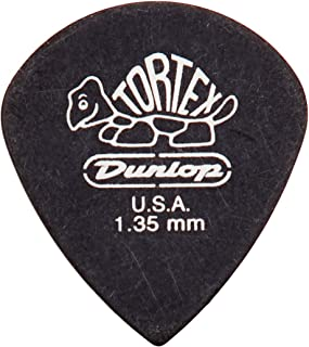 Dunlop 482P1.35 Tortex Pitch Black Jazz III, 1.35mm, 12/Player's Pack