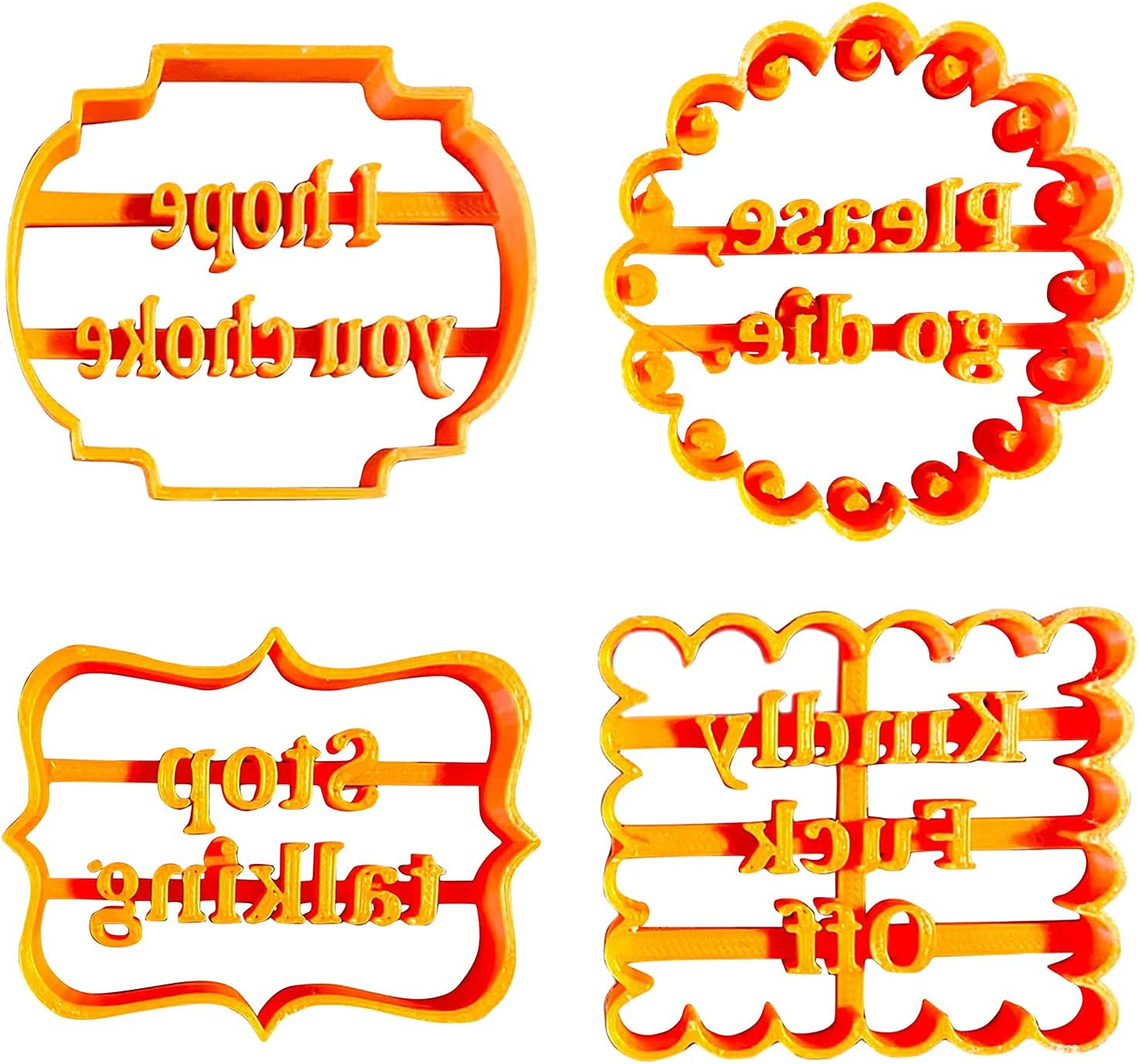 Max 57% Mesa Mall OFF Cookie Molds with Good Wishes and Irreveren Fun Form