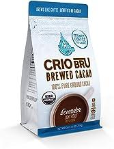 Crio Bru Brewed Cacao: Ecuador Light Roast (Coco River) 284g (10oz) Bag | 100% Pure Ground Cacao | Great Substitute to Her...