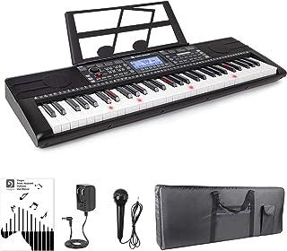 Vangoa Teclados Electrónicos 61 Teclas con Pantalla LCD Llaves Iluminadas Enseñando Teclado de piano, con 3 Enseñanza Modo, 500 timbres, 300 ritmos, 40 demos, 61 sonidos de percusión
