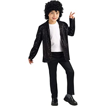 Rubies Costume Co Michael Jackson Costume, Childs Deluxe Billie ...