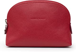 Le Foulonne Leather Coin Purse Red Bag New