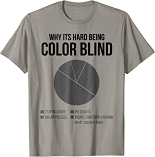 Why Its Hard Being Color Blind Pie Chart - Color Blind Shirt