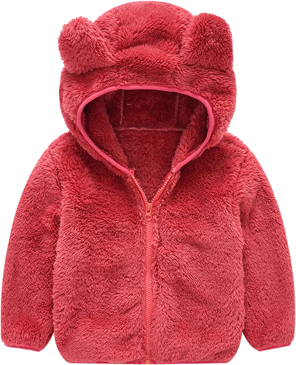 Baby Kids Year-end gift Boys Girls Fleece Full Zip Ears Up So At the price Hoodie with Bear