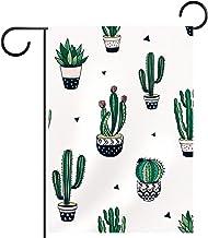 Tuinvlag, handgetekende decoratieve cactussen cartoon, Seizoensgebonden Outdoor Vlaggen 28 x 40 Dubbelzijdige Home Yard De...