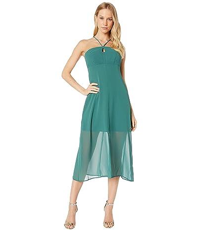 BCBGeneration Strappy Slip Dress VDW6215168 (Dark Green) Women
