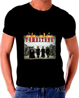 Tombstone Justice is Coming with Flames t Shirt Wyatt EARP DOC Holliday