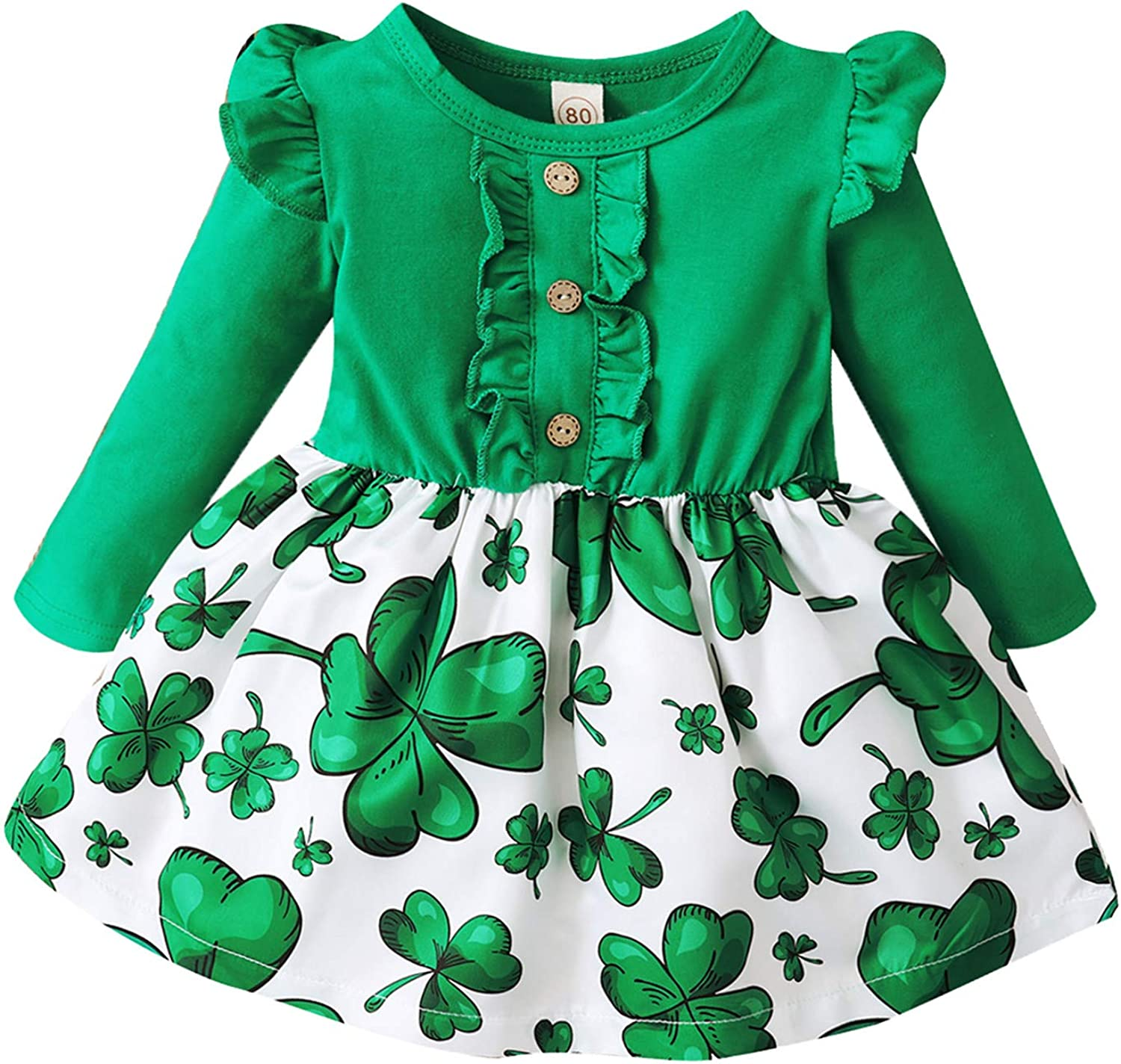 Toddler Baby Girls St. Patricks Lucky Sleeveless Day Clo Max 64% OFF Max 45% OFF Dresses
