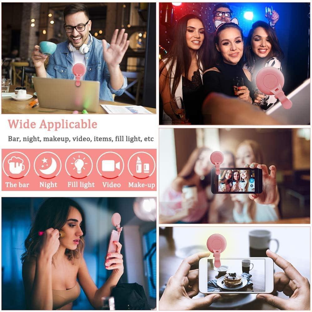 21 Lighting Effect 9-Levels Adjustment Brightness Make Up for Any Smartphones Camera Tablets Laptop Rechargeable LED Night Selfie Enhancing Supplementary Beauty Lights ANCwear Selfie Ring Light