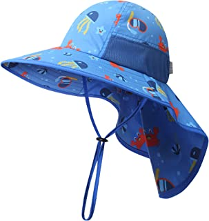 icolor Kids Sun Hat Toddler UV Protection Sun Cap Baby UPF50+ Outdoor Summer Beach Play Hat