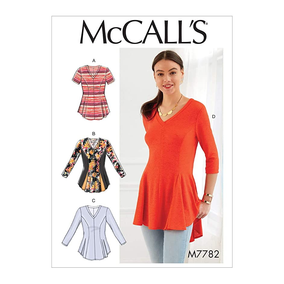 McCall's Patterns M7782 Misses'/Women's Tops Sewing Pattern, RR (18W-20W-22W-24W), Multicolor