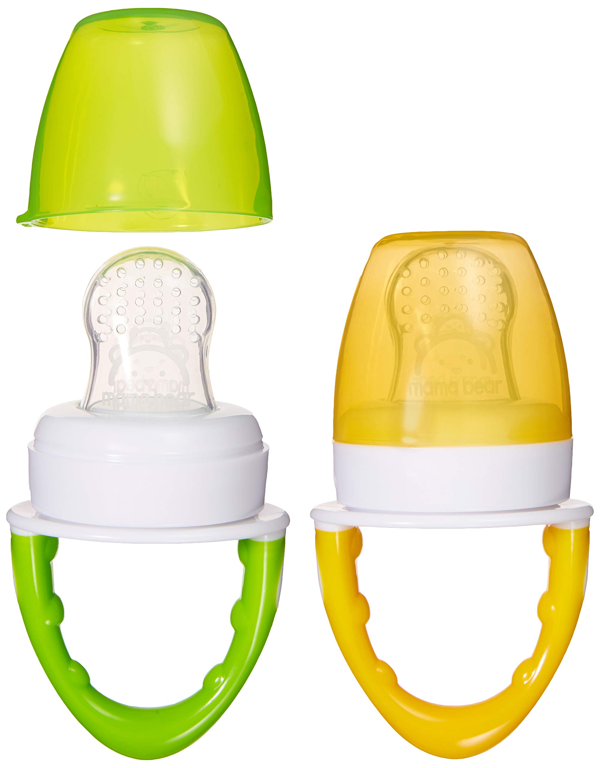 Amazon Brand - Mama Bear Silicone Feeder (Pack of 2)