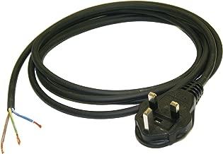 Interpower 86240010 United Kingdom/Ireland Power Cord, BS 1363/A Plug Type, Black Plug Color, 13A Plug Fuse, Black Cable Color, 10A Amperage, 250VAC Voltage, 2.5m Length