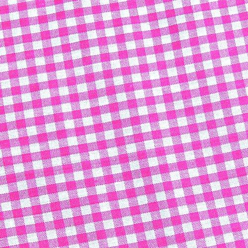 0,5m Vichy-Karo groß 5mm Stoff pink/ weiß Meterware 100% Baumwolle