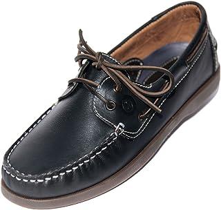 MADSea Hommes All Summer Cuir Chaussures Bateau avec Semelle foncée