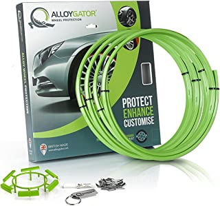 Alloygator Alloy Wheel Protection (MADE IN BRITAIN) Rim Protector Complete Set of 4 GREEN COLOR Excellent Fitment (FITS 13