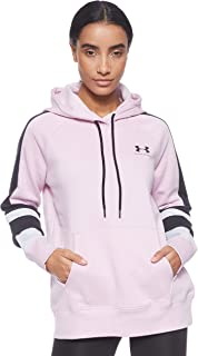 Under Armour Women's Rival Fleece Lc Logo Hoodie Novelty Hoodies, Pink (Pink Fog/Black), Medium