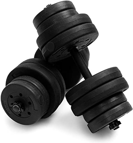 2021 Giantex outlet sale discount 66LB Weight Dumbbell Set Adjustable Cap Gym Barbell Plates Body Workout Training outlet sale