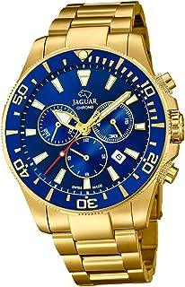 JAGUAR - Reloj Modelo J864/2 de la colección Executive, Caja de 43,5 mm Azul con Correa de Acero Chapado para Caballero