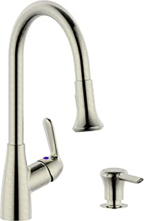 Single Handle Pull-Down Kitchen Faucet (with soap dispenser)