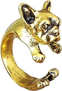 gold french bulldog ring