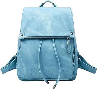 Neuleben Damen Mädchen Klein Rucksack Daypack Handtasche aus PU Leder Rucksäcke Schulrucksack Anti Diebstahl Tasche für Schule Freizeit Reise Arbeit Blau