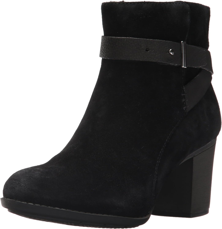 Clarks - Frauen Enfield Sari Low Stiefel, 37 EUR, schwarz Suede