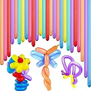 100 Pieces Latex Twisting Balloons 260Q Magic Modelling Balloons Assorted Color Extra Long Balloons for Animal Balloons Pa...