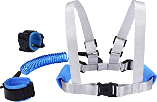 Blisstime 2 in 1 Toddler Leash -Anti Lost Wrist Link for Toddlers -Toddler Harness,Baby Leash,Leash for Toddlers,Wrist Leashes,Child Leashes for Toddlers,Not Easy to Open Without Key