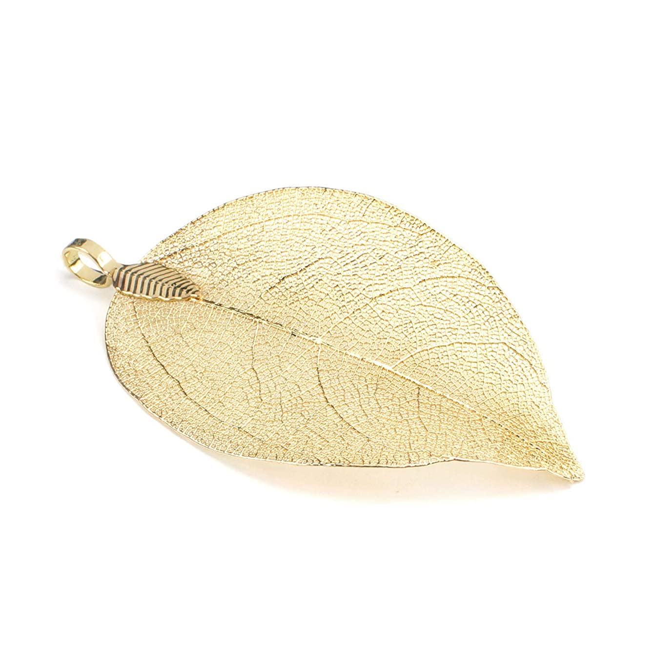 Wholesale 6PCS 14K Gold Plated Natural Real Leaf Pendants Bulk Cute Size Charms for Earring Jewelry Making