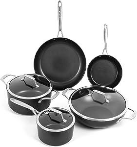 TeChef TECHEF - Onyx Collection Nonstick Cookware Set (8-Piece Set)