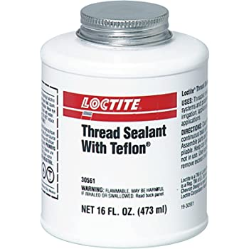 GENUINE LOCTITE 1533652 THREAD SEALANT BRUSH TOP WITH PTFE 16-oz.