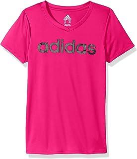 3b869099e adidas Girls' Big V-Neck Performance T-Shirt