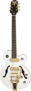 Epiphone WILDKAT Royale Semi-Hollowbody Electric Guitar with Bigsby Tremelo, Pearl White