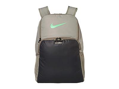Nike Brasilia XL Backpack 9.0 (Dark Stucco/Dark Smoke Grey/Green Spark) Backpack Bags