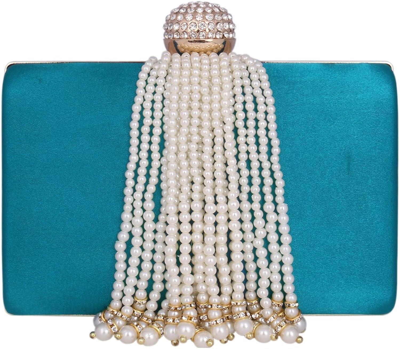 Damara Ladies Purse Pearl Fringed Weeding Party Crossbody Bag