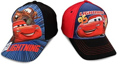 Disney Kids Baseball Cap for Boys Ages 2-7,Cars Lightning McQueen, Pack of 2, Little Kids and Toddler Baseball Hat